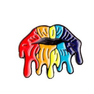 HOST PICK Rainbow Lips Pin Brooch Pride